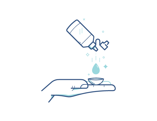 Выбросьте одноразовые или почистите и продезинфицируйте специальным средством многоразовые линзы