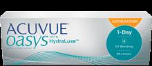 Однодневные контактные линзы Acuvue Oasys® 1-Day for Astigmatism (для астигматизма) с технологией HydraLuxe®