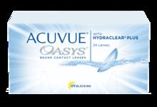Двухнедельные контактные линзы ACUVUE OASYS® с технологией HYDRACLEAR® PLUS*  *ПЛЮС