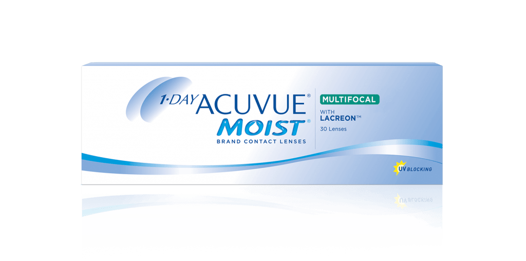 Контактные линзы 1-DAY ACUVUE® MOIST Multifocal для коррекции пресбиопии