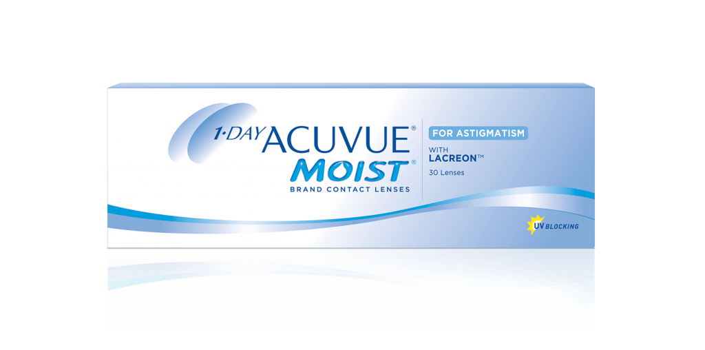 ОДНОРАЗОВЫЕ контактные линзы для коррекции астигматизма 1-DAY ACUVUE® MOIST for ASTIGMATISM