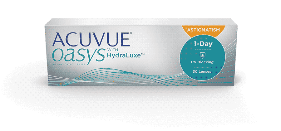 Линзы ACUVUE OASYS® 1-DAY for ASTIGMATISM с технологией HydraLuxe™